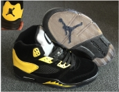Perfect Air Jordan 5 Oregon PE Black Yellow