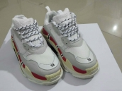 Women Balenciaga Triple-S Sneaker Grey White Red