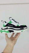 Women Balenciaga Triple-S Sneaker Black White Green