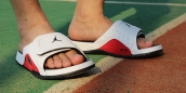 Air Jordan Hydro 13 Sandals White Red