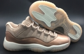 Women Perfect Air Jordan 11 Low GS Rose Gold
