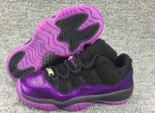 Women AAA Air Jordan 11 Purple Black