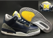 Perfect Air Jordan 3 Navy Blue Yellow