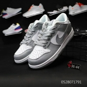 Women Nike Dunk Low White Grey
