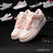 Women Nike Dunk Low White Pink