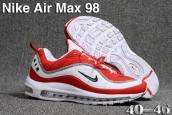Air Max 98 White Red