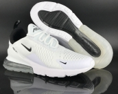 Women Air Max 270 White Black