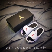 Air Jordan Hydro 5 White Black Red