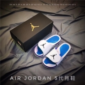 Air Jordan Hydro 5 White Blue