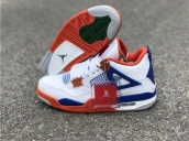 Air Jordan 4 White Blue Red