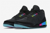 Air Jordan Women Black Colorful