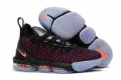 Nike Lebron James 16 Black Blue Orange