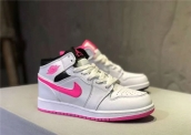 Air Jordan 1 Women White Pink