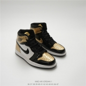 Nike Air Jordan 1 OG High Black Golden
