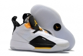 Air Jordan 33 White Yellow
