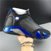 Supreme x Air Jordan 14 Black Blue-004