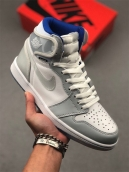 Air Jordan 1 High Zoom White Grey
